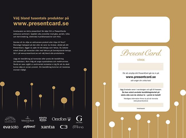 Välj bland tusentals produkter på www.presentcard.se